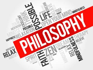 Philosophy word cloud concept