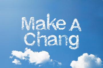 Make money cloud word on sky
