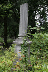 Grabsäule auf dem alten Friedhof Schwerin