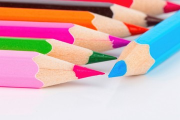 Colored pencils set - Stock image macro.