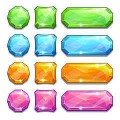 colorful crystal buttons
