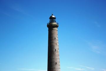 Skagen Lighthouse under blue sky, Denmark