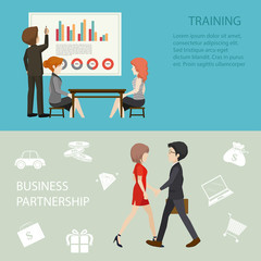 Business meeting style infographic