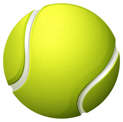Single light green tennis ball