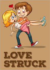 Love struck couple idiom