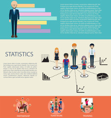 Business infographic design with elements