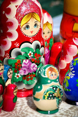 Matryoshka doll. A traditional Russian nesting doll.