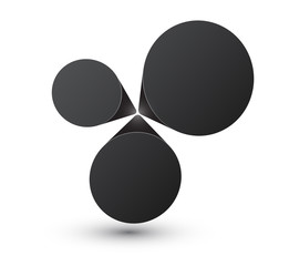 Bubble black infographics design.