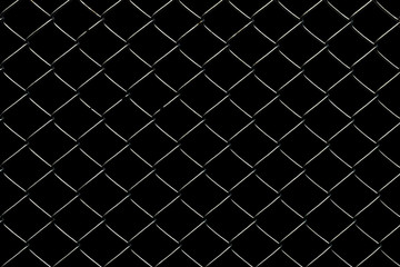 Wired fence on a black background.