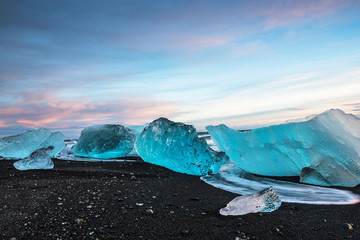 Photo sur Aluminium Pôle Jokulsarlon ice beach, Iceland