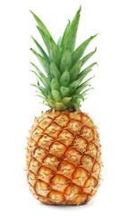 Poster Vruchten ripe pineapple isolated on white background