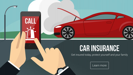 Car insurance and safety banner