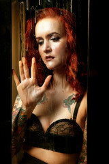 lovely woman with tattoos,,
