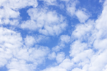 clouds in the blue sky background.