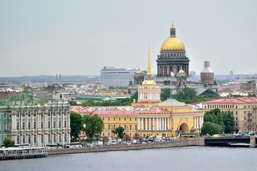 Beautiful panorama of center of St. Petersburg - bird's-eye view