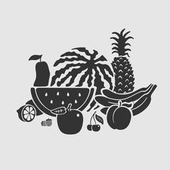Vector Symbol Set Fruit