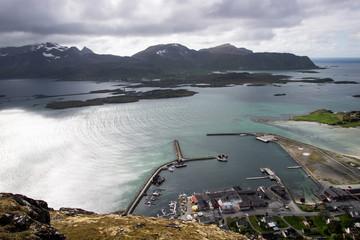 mountain view on Lofoten Islands in Norway