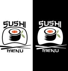 Sushi menu card template