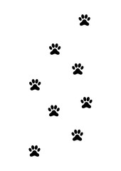 Animal Leaving Traces - Silhouette Vector
