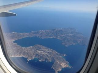 île de Milos vue d'avion