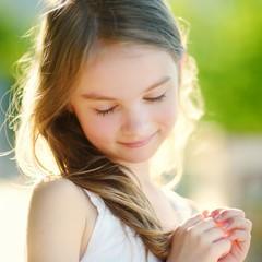 Adorable little girl on summer day