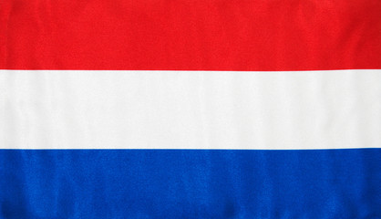 Fabric texture of the flag of Holland