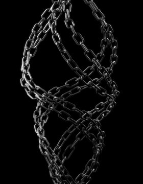 Chain - isolated on black