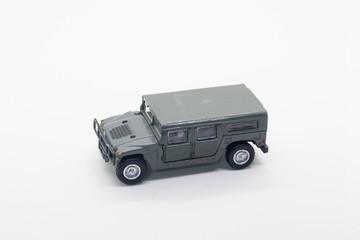 military vehicle toy isolate on white background