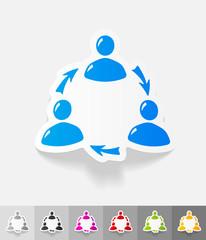 realistic design element. interaction ikon