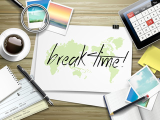 break time written on paper
