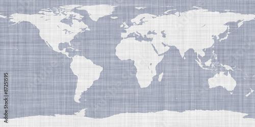 World Map Fabric\