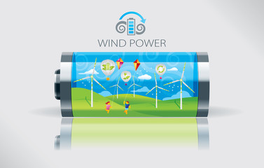 Eco wind battery