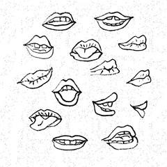 Lips set,