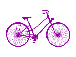 Silhouette of retro bicycle