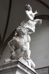 Wall Mural - Italie / Florence - L'Enlèvement des Sabines (Loggia della signoria)