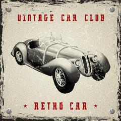 vintage car poster design