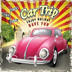 car trip poster design
