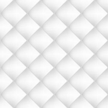 Seamless white diamond tiles pattern, vector wallpaper