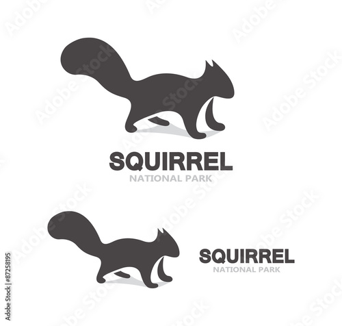 Black squirrel logo