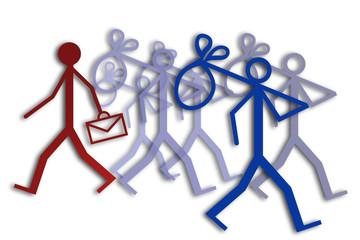 Employment and unemployment concept image