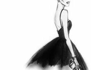 women with elegant dress .fashion background