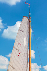 Sail with the Dutch provincial symbol of Frisia