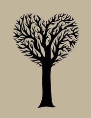 Love Tree, art vector design