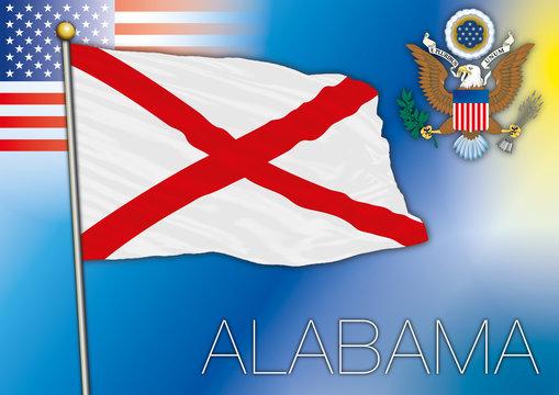 alabama flag, us state