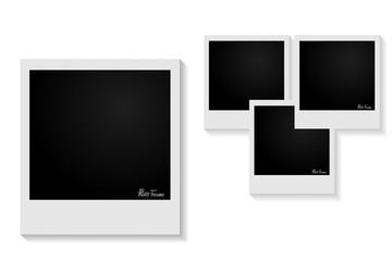 Stylish photo frames with shadows