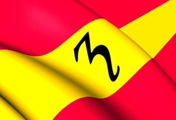 Flag of Zevenaar, Netherlands.