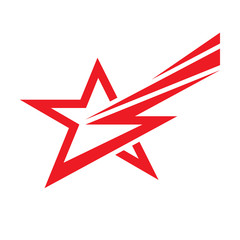 Star and lighting - vector logo concept illustration. Star sign. Star symbol. Vector logo template. Design element.