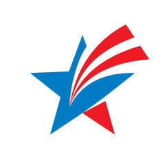 Star - vector logo concept illustration. Star sign. Star symbol. USA star sign. Vector logo template. Design element.