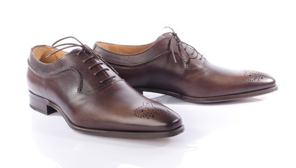 Luxury brown shoes