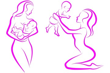 Mother and child. Illustration